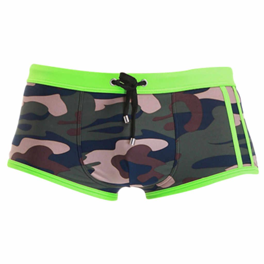 97bb6010e7330 ... Men's Shorts Camouflage trouse Underpants Swimwear Push-Up Man Swimsuit  low waist sexy Swim sport ...