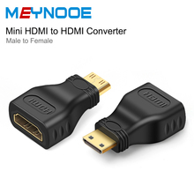 Mini HDMI to HDMI Digital Audio Converter Gold Plated Mini HDMI Extender HDMI 4K Extension Adapter For HDTV Peojector Conversion