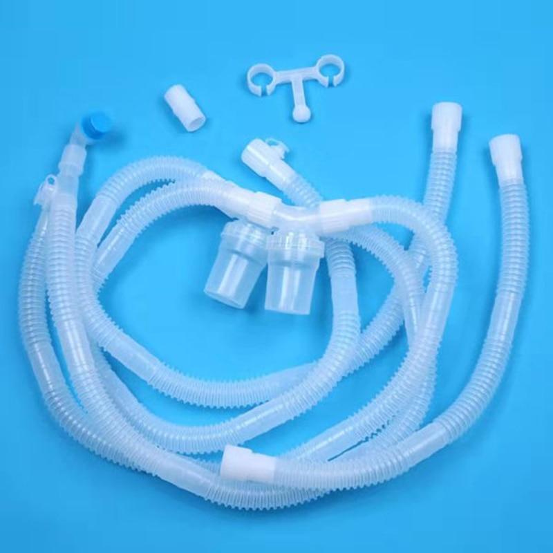1.5m medyczny zestaw do oddychania typu PVC typu Y dla dorosłych z kolektorem cieczy i rurką zapasową CPAP akcesoria maszynowe