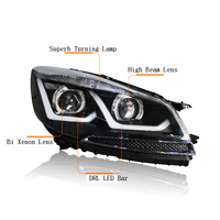 Ownsun New Eagle Eyes LED DRL Bi xenon Projector Lens Headlights For Ford Escape Kuga 2013 2015