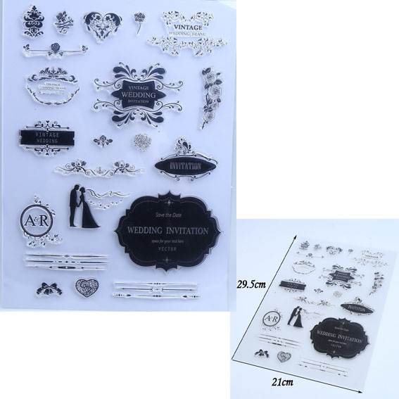 Aesthetic Wedding Transparent Clear Stamp DIY Silicone Seals Scrapbooking/Card Making/Photo Album Decoration Crafts angel and trees clear stamp variety of styles clear stamp for diy scrapbooking photo album wedding gift cl 163