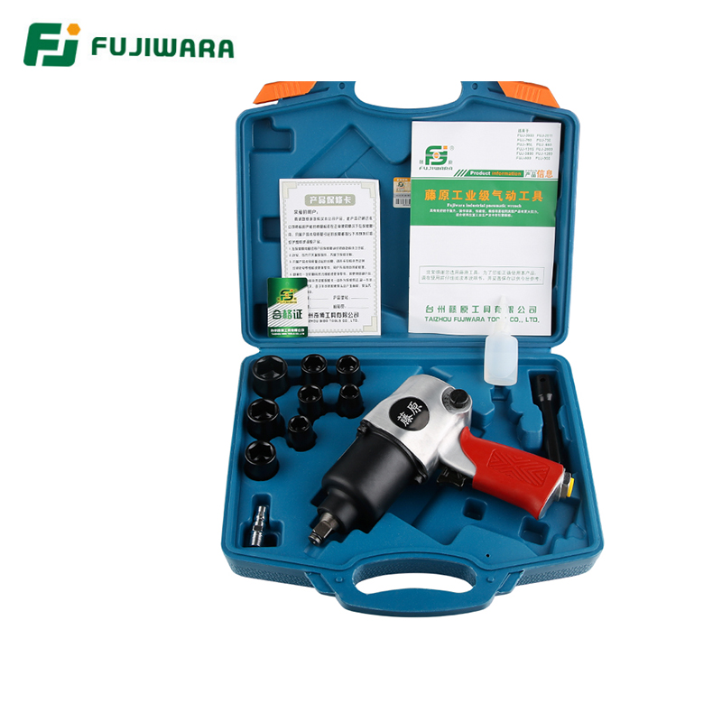 FUJIWARA 1280t 1/2 650N.M Pneumatic Wrench Industrial Class Large Torque Pneumatic Tool Tyre Disassembly Torque WrenchFUJIWARA 1280t 1/2 650N.M Pneumatic Wrench Industrial Class Large Torque Pneumatic Tool Tyre Disassembly Torque Wrench