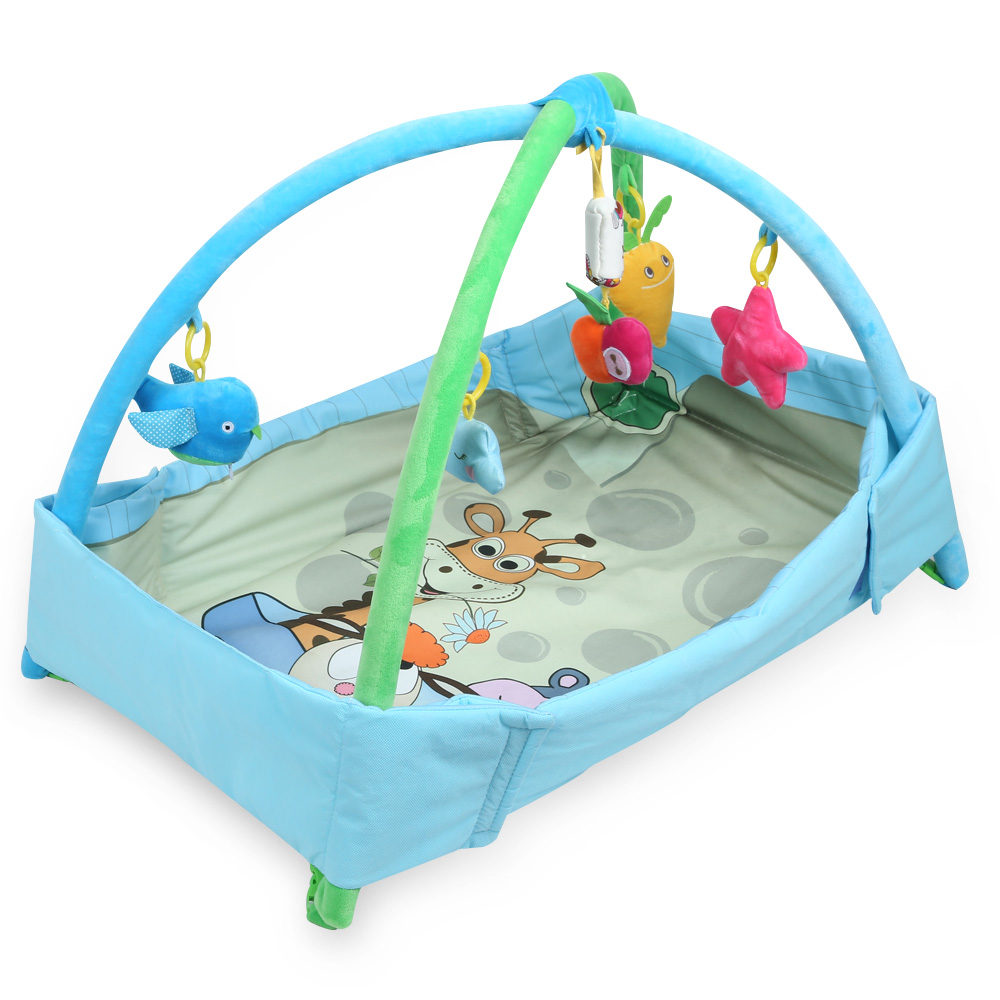Cartoon Soft Baby Game Play Mat Playing Carpet Infant Kids Fitness Frame Gym Mat Rattle Crawling Crawling Playmat Floor Paradise 3 in 1 newborn infant baby game bed baby toddler cribs crawling activity gym mat floor blanket kids toys carpet bedding soft