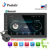 Podofo 2din Android Car Radio multimedia player Autoradio 2 Din 7'' GPS WIFI Bluetooth FM Touch screen auto audio player stereo