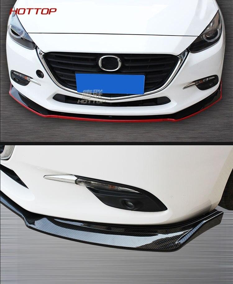 Front Bumper Lip Trim Grill Below Lips Cover Shovel For Mazda M3 Axela 2014-2018
