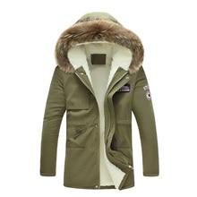 Новые поступления моды для мужчин зимняя куртка и пальто и пиджаки меха с капюшоном парки 4XL 5XL JPCL31