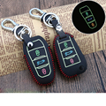 Real Leather Car Key Covers Luminous Key Case Bags Holder for Peugeot 206 307 308 407 207 2008 3008 406 508 Car-styling