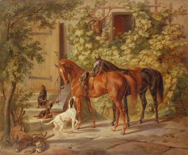 peinture chevaux wallpaper - photo #2