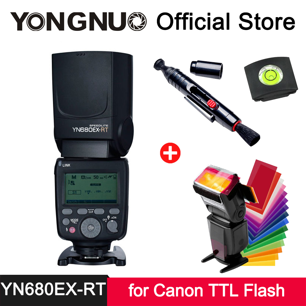 YongNuo YN680EX RT Speedlite литиевых Батарея GN60 Беспроводной триггера 2,4 г радио ttl мастер ведомой вспышки света для Canon YN E3 RT
