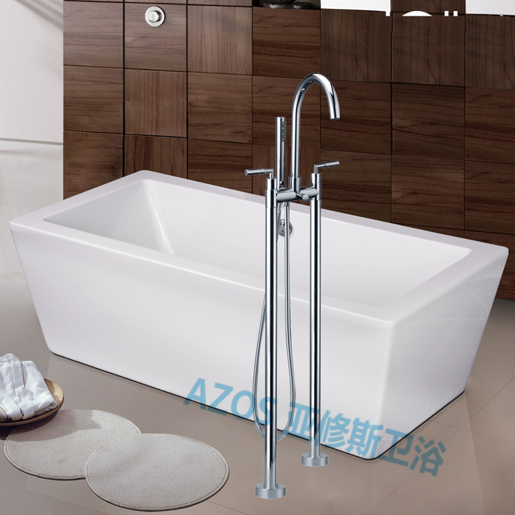 bathtub faucets luxury ceramic valve water mixers floor stand hand hold bathroom shower sauna kit ldtz014 - Bathtub Faucets