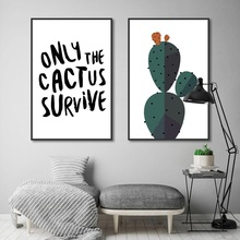 Nordic Decoration Home Art Posters and Prints Simple Creative Cactus Canvas Painting Modular Wall Pictures for Living Room