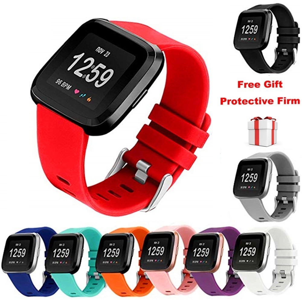 Duszake Band For Fitbit Versa/Versa Lite Strap For Fitbit Versa Band Silicone Replacement Wristband For Fit Bit Versa Strap