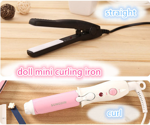 Blyth BJD SD Doll Curling Iron Mini High Temperature Wig Curl Straight SD Doll Change Makeup Tools Doll Accessories