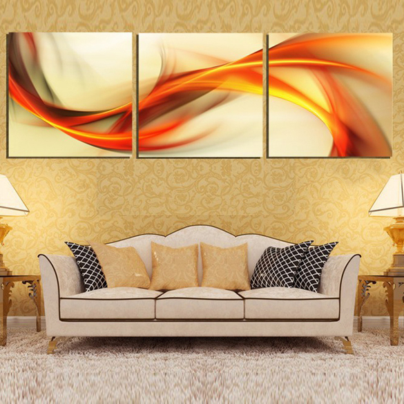 Abstract design canvas fabric wall art painting for home sense decor ...