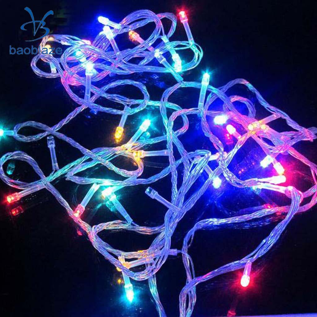 LED String Fairy Light Battery Operated Decorative Light 40LEDs Colorful