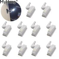 Bản lề LED Bulb Đèn Phổ Bếp Phòng Ngủ Phòng Khách Tủ Cabinet Tủ Closet Tủ Quần Áo Night Lights Trắng Ấm Hệ Thống 10 cái