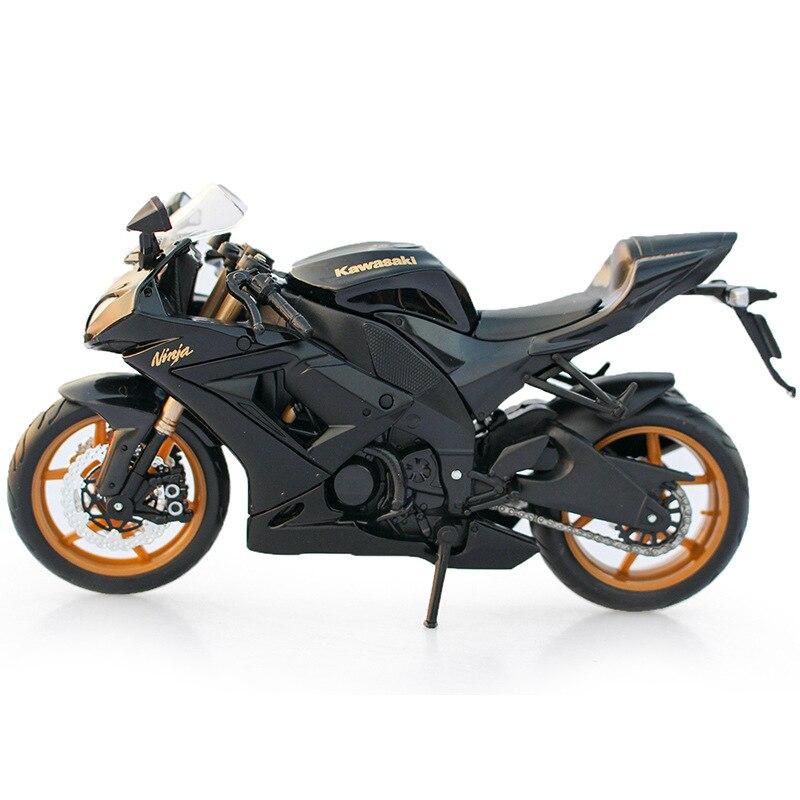 Wenhsin Kawasaki 112 Ninja KAWASAKI ZX 10R Alloy Motorrad Modell Spielzeug Geschenk Schwarz