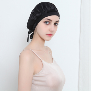 Image 3 - المرأة الحرير الخالص النوم القبعات التفاف قبعة الليل العناية بالشعر بونيه