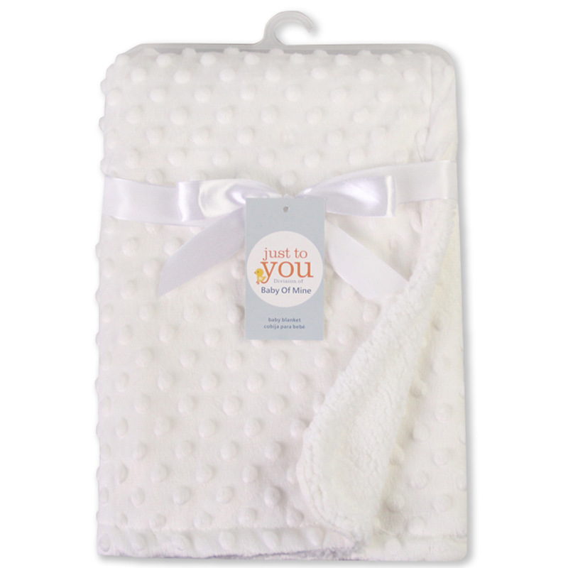 76x102cm Point Fleece Baby Blanket Nyfödda Baby Swaddle Wrap Bebe - Sängkläder - Foto 2