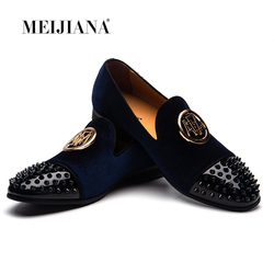 MEIJIANA Mens Shoes Casual Luxury Brand Summer Men Loafers Genuine Leather Moccasins Comfy Breathable Slip On Party Shoes