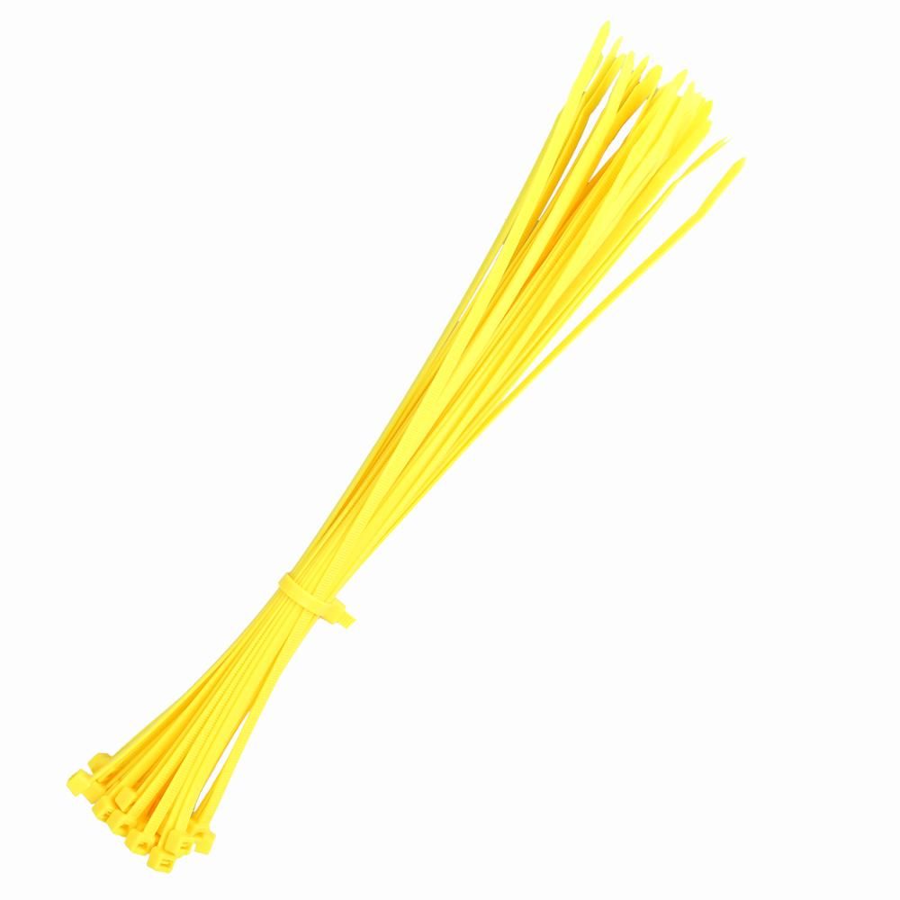 500pcs 3x100mm Computer Network Wire Cord Wrap Cable Fixed Zip Tie