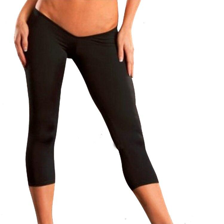 Sexy Low Waist Cropped Trousers Capris Women Pants ...