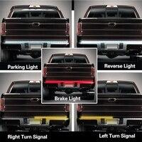 SITAILE Flexible 12V Car LED Signal Lamp Strip Light Tailgate Bar Backup Reverse Brake Tail Turn