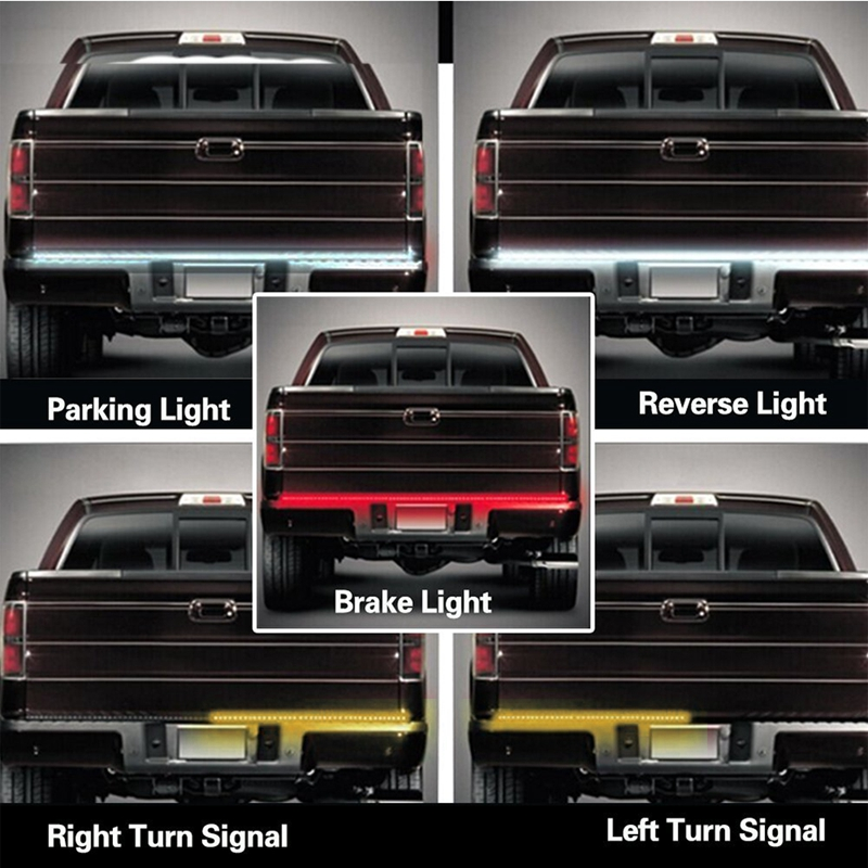 SITAILE Flexible 12V Car LED Signal Lamp Strip Light Tailgate Bar Backup Reverse Brake Tail Turn Signal Light For Truck SUV free shipping 59 j0b01 cg1 compatible bare lamp for benq pb8720 pe8720 w10000 w9000