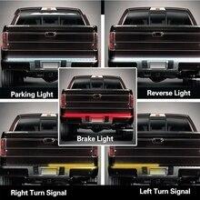 SITAILE гибкий 12 В водить автомобиль Сигнальные лампы полосы света Багажника Бар Резервное копирование обратного тормозного Хвост указатель поворота для грузовик внедорожник
