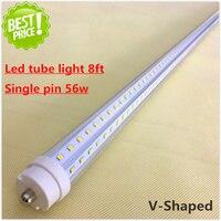 LED Tube Light Fa8 Single Pin 56w SMD2835 384 LEDs 8 Ft 2400mm 2 4M LED