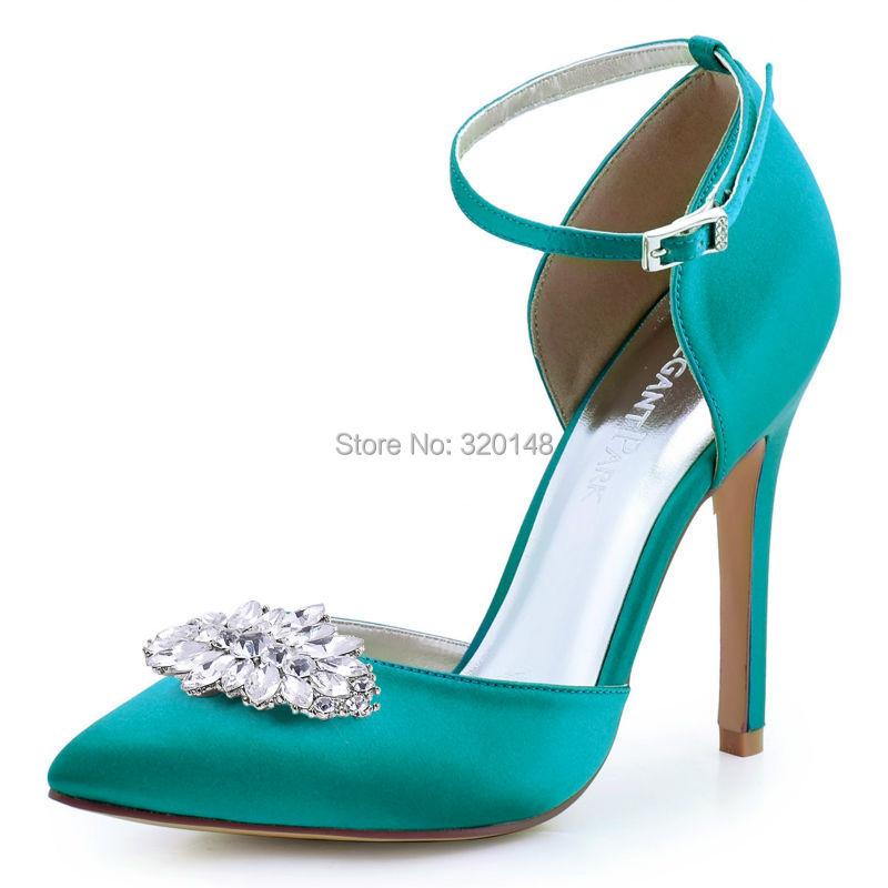 c058af2a8896 Women High Heel Pumps Rhinestone Platform Satin Bridesmaids Bride Evening  Party Bridal Wedding Shoes EP2015 Silver ChampagneUSD 55.99 pair