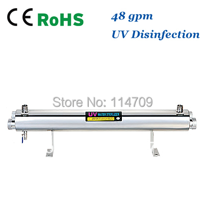 Coronwater SS304 48 GPM UV Sterilizer Disinfection System CE, RoHS for Water Purification coronwater 72 gpm uv disinfection sbv 5925 6p