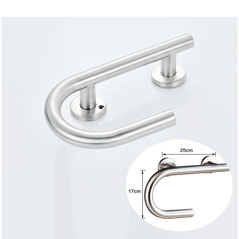 Multifunction Stainless Steel Door Handrail Grip Handle Bathroom ...
