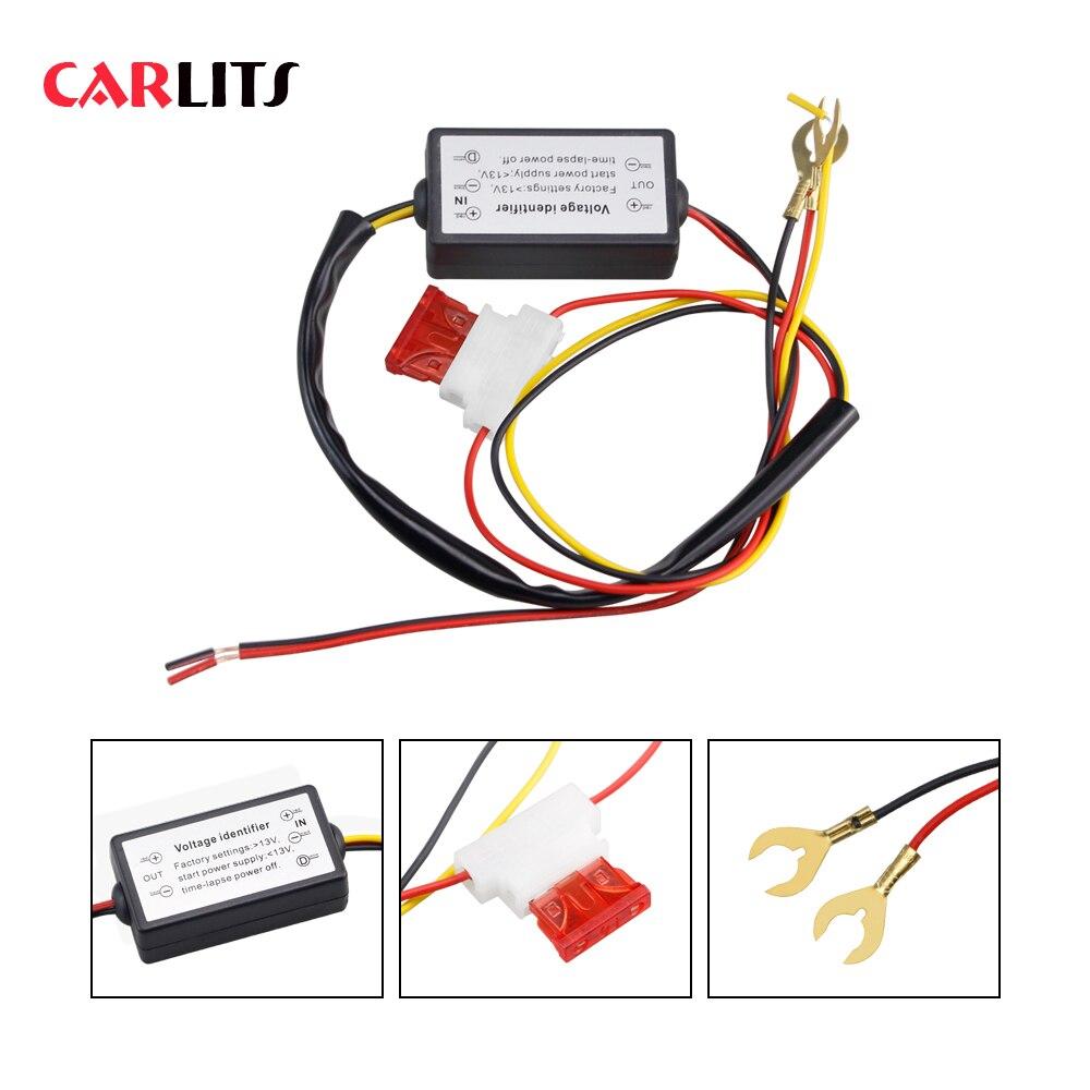 1PCS DRL Controller อัตโนมัติรถ LED วิ่งกลางวันไฟรีเลย์สายรัด Dimmer ON/OFF 12-18V LIGHT CONTROLLER
