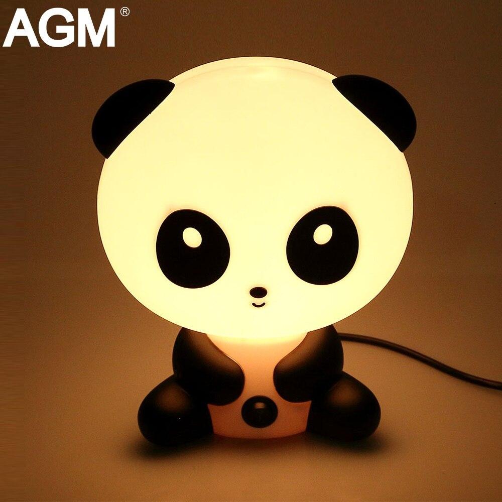 AGM LED Night Light Panda Rabbit Cartoon Baby Kids Bedside Sleeping Nightlights Desk Tab ...