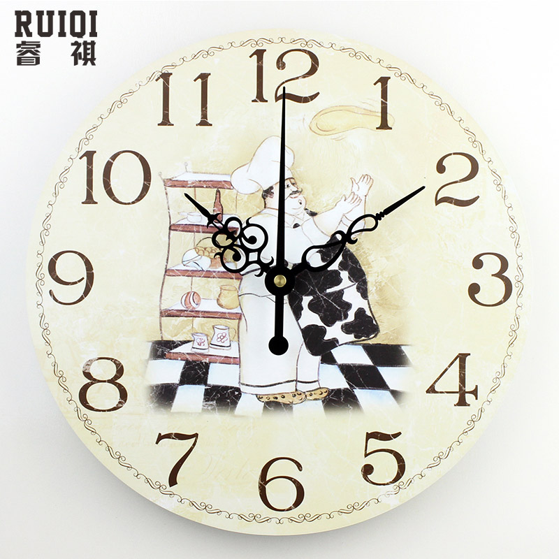 Fashion absolutely silent quartz wall clock kitchen home - Reloj pared vintage ...