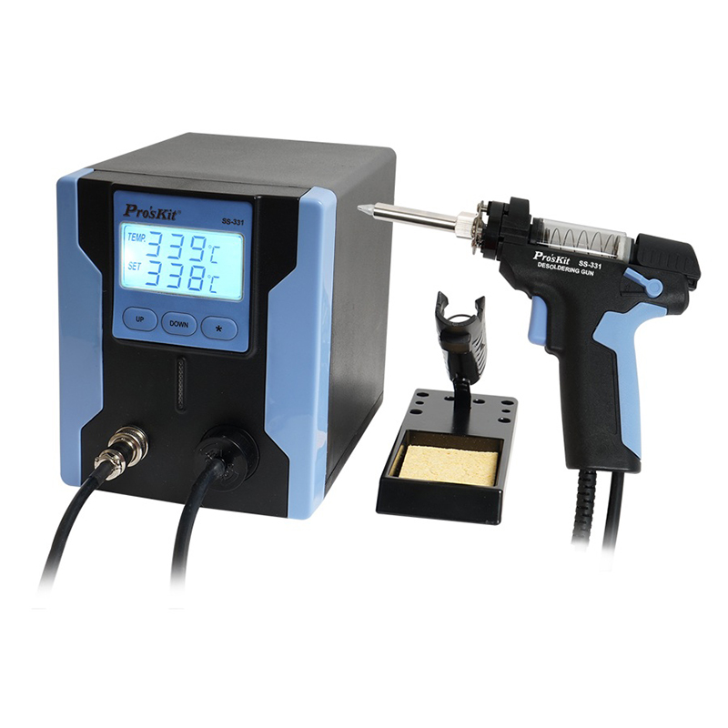 Desoldering Suction Pro'skit SS-331H ESD Electric Desoldering Gun Digital Adjustable Suction Pump Station For PCB Desolder щипцы ppd esd ss sa