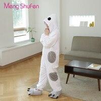 Mengshufen Pajamas Sets Flannel Pajamas Winter Cartoon Stitch Pyjamas For Unisex Women Adult Sleepwear Winter Set