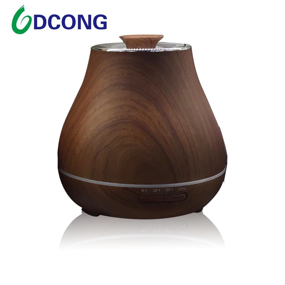 DCONG Air Humidifier Aroma Diffuser Wood Grain Humidificador Umidificador De Ar Essential Oil Diffuser Aromatherapy