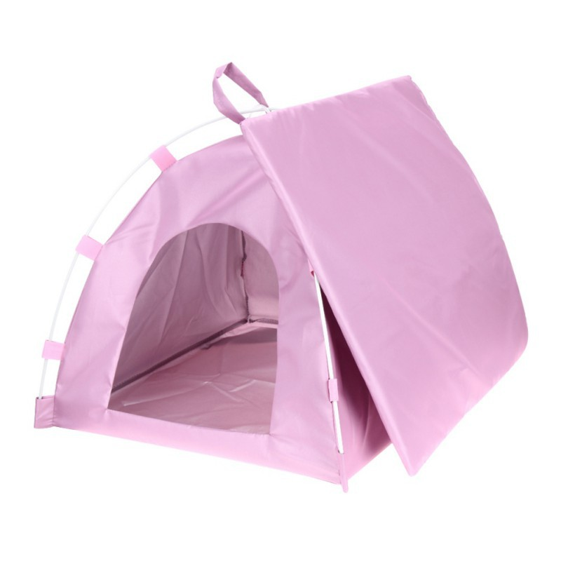 Dogs Tent Small Dog Folding Sleeping Bed Plastic Oxford Cloth Fiber Outdoor Travel Supplies Pet Products For Pet