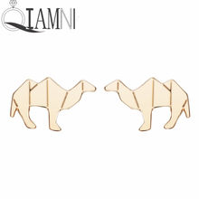 QIAMNI Cute Animal Earrings Camel Mens Earring Magnetic Stud Earrings For Women Girls Famous Brand Jewelry Christmas(China)