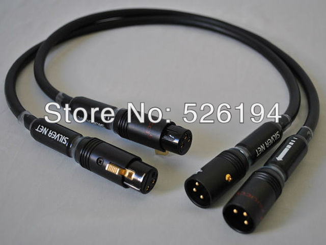 Free shipping pair ALPHA P2.1 audio Balanced XLR cable with pailiccs XLR plug