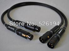Livraison gratuite paire Furutech ALPHA P2.1 audio Équilibrée XLR câble avec pailiccs XLR plug