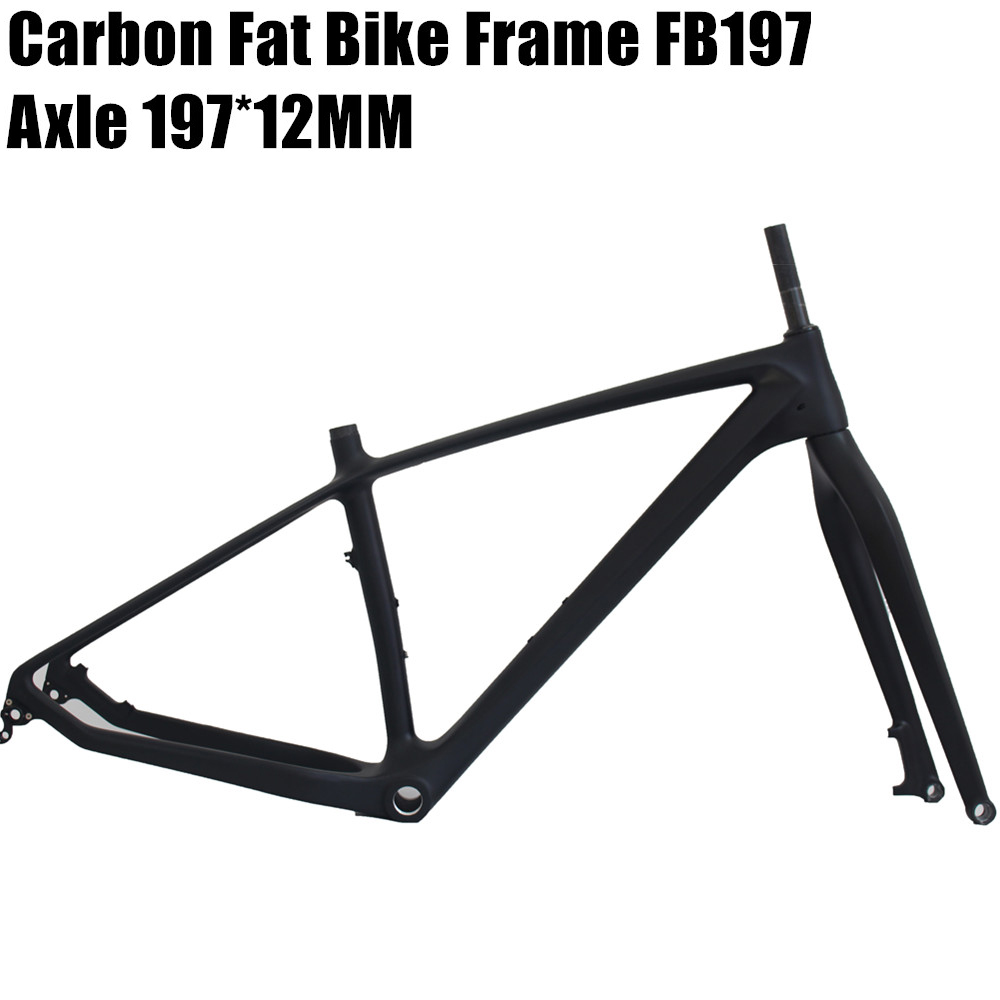 Carbon Fat Bike Frame With Fork 26er BSA Carbon Snow Bike Frameset Carbon Fat Bike Frame+fork+headset Snow Bike Frameset