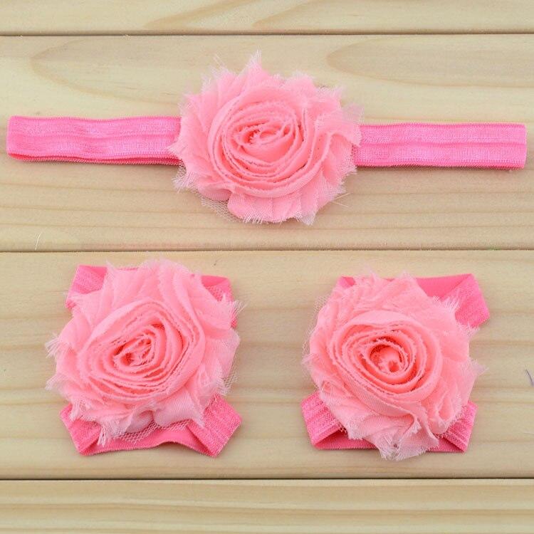 """Украшение для детей, повязка на голову, повязка для малышей цветы в стиле """"шэбби шик"""" повязка на голову босоножки ботинки и набор повязок для новорожденных; детская одежда для девочек аксессуары для волос - Цвет: peach"""