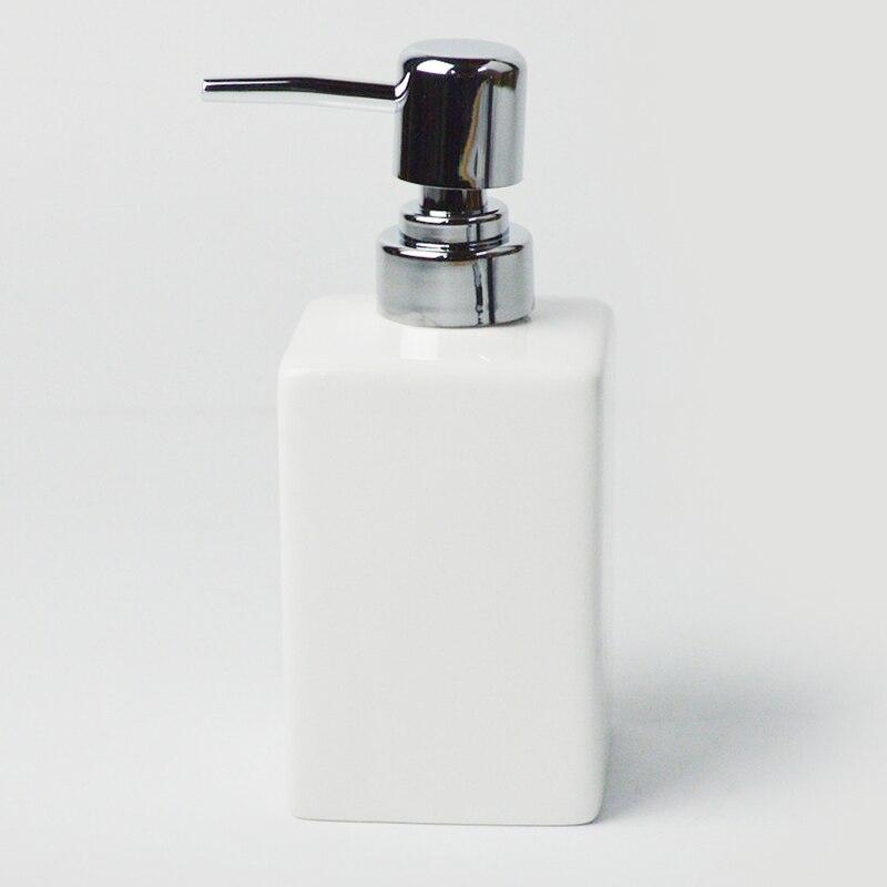Image 2 - China Ceramic 2 pcs White Soap Dispenser for Kitchen Bathroom  Home Decoration Hand Sanitizer Bottle Cup Lotion BottleBathroom  Accessories Sets