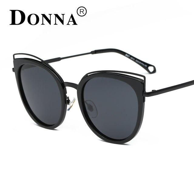 f3756635ac9 ... DONNA New Fashion Cat Eye Sunglasses Women White Frame Gradient  Polarized Sun Glasses Driving UV400 Aluminium ...