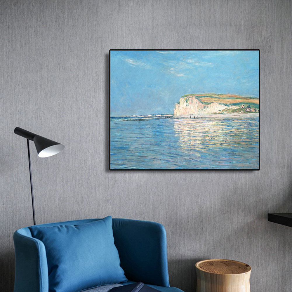 Prospect Blue Sky Blue Sea Mountain Vast Artwork Popular Modern Canvas Painting Calligraphy For Bedroom Living Room Home Decor in Painting Calligraphy from Home Garden