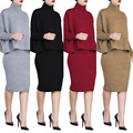 knitted the split Plus Size Nightclub Set skirt and sweater top  xxxl xxl pencil skirt top tracksuit women set dos piezas mujer