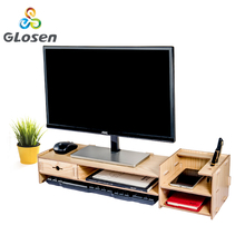 цена на Computer Heightening Stand Holder for Display Screen Keyboard Base Bracket Wooden stand Keyboard Holder Glosen D2066